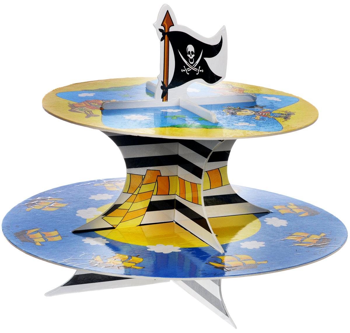 """Веселая затея Стойка для кексов """"Маленький пират"""", 2 яруса"""
