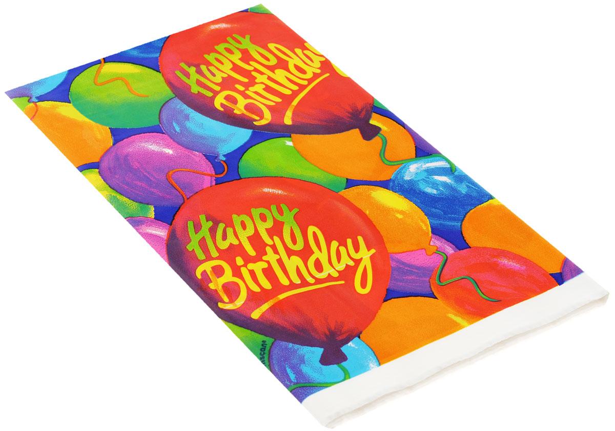 """Веселая затея Скатерть """"Happy Birthday. Шары"""", 140 см х 260 см"""