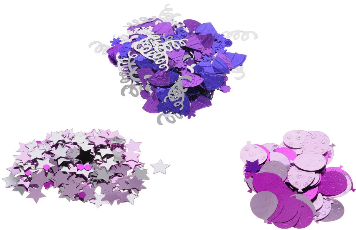 Веселая затея Конфетти Шары. Колпаки, 3 вида, 34 г1501-1505Разноцветное праздничное конфетти выполнено в трех дизайнах: розовые звездочки и малиновые круги; блестящие фиолетовые колпачки и серебряный серпантин; розовые и малиновые шарики. Яркое конфетти - неотъемлемый атрибут праздников, в основном, балов, карнавалов, триумфальных шествий, а также дней рождений и свадебных торжеств. Конфетти осыпают друг друга участники празднеств или его сбрасывают сверху. Конфетти, рассыпанное на столе, является необычной и привлекательной формой украшения праздничного застолья. Еще один оригинальный способ порадовать друзей и близких - насыпьте конфетти в конверт с открыткой - это будет неожиданный сюрприз! Также конфетти - прекрасный материал для рукоделия.