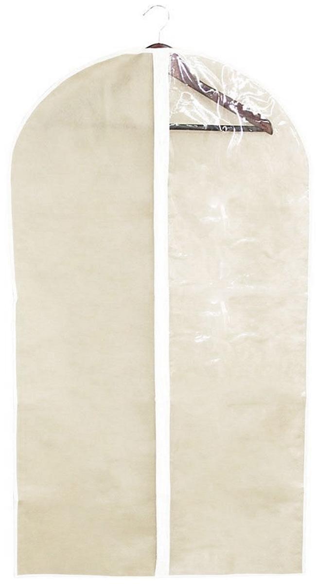Чехол для одежды Miolla, цвет: бежевый, 60 х 100 см2507035UУдобный чехол для одежды Miolla на молнии, выполненный из прочного дышащего и водонепроницаемого материала, обеспечит надежное хранение вашей одежды, защитит от повреждений и загрязнений. Особая фактура ткани не пропускает пыль и при этом позволяет воздуху свободно проникать внутрь, обеспечивая естественную вентиляцию.