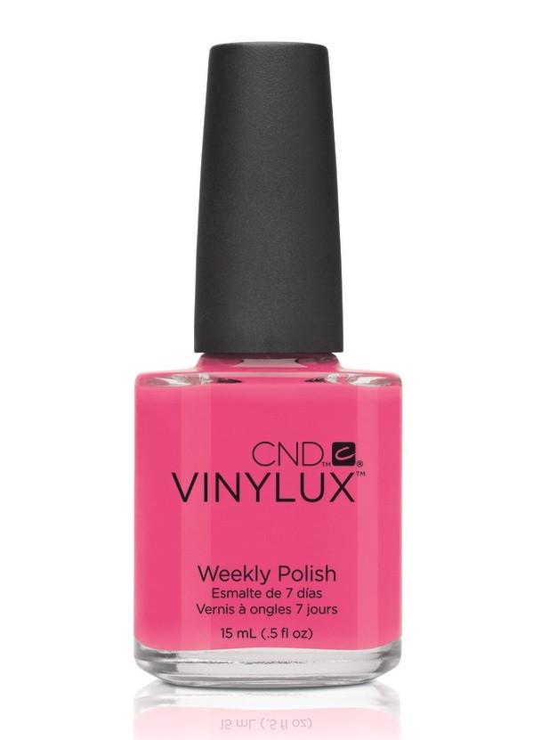 CND Винилюкс Профессиональный недельный лак VINYLUX, #134 Pink Bikini, 15 мл9897Лак VINYLUX™ – это, в первую очередь, лак, отвечающий современным требованиям. Он маркирован значком 3Free, который говорит об отсутствии в его составе таких вредных компонентов, как дибутилфталат, толуол, формальдегид и его смол. Vinylux (винилюкс) - это двухступенчатая система нанесения лака, состоящая из цветного покрытия и закрепителя. Благодаря инновационной технологии ваш маникюр станет более совершенным, а процесс еего выполнения еще более быстрым. Больше не нужно использовать базу, самоклеющийся состав цветного покрытия не содержит вредных веществ и одновременно обеспечивает защиту вашим ногтям. Закрепитель позволяет лаку держаться на ногтях неделю без сколов и царапин. Vinylux высыхает за восемь с половиной минут и не требует использования UV-лампы. Сейчас насчитывается 62 модных цвета покрытия, включая более 30 цветов, которые совпадают с популярными оттенками CND Shellac. Новинка от CND Vinylux - это более стойкое, блестящее покрытие, которое держится неделю. Расход...