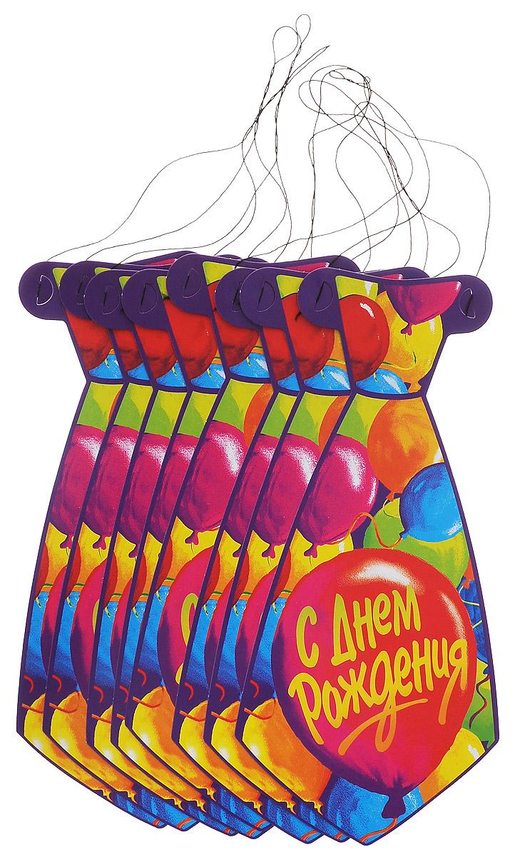 Веселая затея Галстук С днем рождения: Шары, 8 шт1501-0448Галстук Веселая затея С днем рождения: Шары развеселит вас и ваших друзей в праздничный день. Галстук выполнен из картона и оформлен картинкой воздушных шариков. Имеет веревочку для надежного крепления. Радуйте себя и родных, дарите подарки и хорошее настроение! Почувствуйте волшебные минуты ожидания праздника, создайте праздничное настроение вашим дорогим и близким! В комплекте 8 галстуков.
