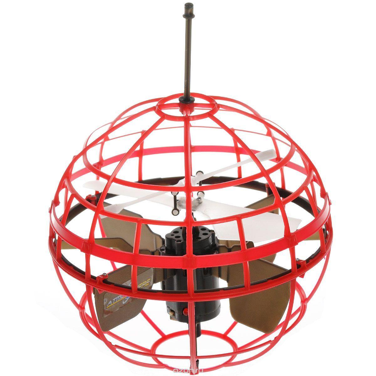 Air Hogs Игрушка на радиоуправлении Atmosphere Axis цвет красный44475Фантастическое зрелище полета шара, напоминающее кадры захватывающих фильмов и мультсериалов, обязательно увлекут всех членов семьи. Подарок для ребенка вскоре станет любимым развлечением и у взрослых. Минимальная продолжительность зарядки и достаточно высокая скорость движения позволят устроить целое представление, сопровождаемое различными трюками в воздухе. Повышенный интерес к радиоуправляемым игрушкам обусловлен колоссальным развивающим воздействием. Летающий шар AirHogs позволит ребенку освоить азы аэродинамики, изучить некоторые аспекты электромагнетизма. Новинка рекомендована для занятий с детьми с 8 лет. Однако приобрести ее могут также взрослые поклонники радиоуправляемых моделей. На выбор покупателей интернет-магазин игрушек предложил сразу несколько вариантов летающего шара. Подарок мальчику может быть зеленым, синим или красным. Товар реализуется в индивидуальной, фирменной упаковке, вместе с зарядным устройством и инструкциями.