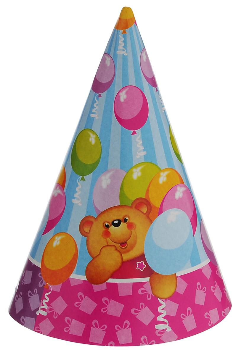 Веселая затея Колпак Медвежонок, 6 шт1501-1050Колпак Веселая затея Медвежонок развеселит вас и ваших друзей в праздничный день. Колпак выполнен из картона и оформлен картинкой забавного медвежонка. Имеет веревочку для надежного крепления на подбородке. Радуйте себя и родных, дарите подарки и хорошее настроение! Почувствуйте волшебные минуты ожидания праздника, создайте праздничное настроение вашим дорогим и близким! В комплекте 6 колпаков.
