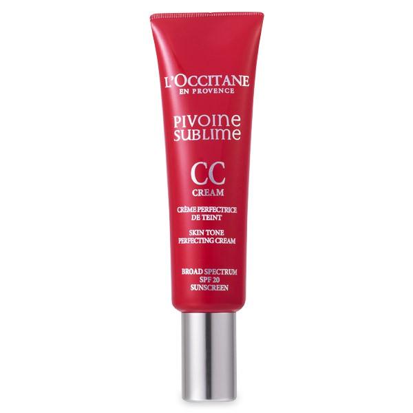 LOccitane Совершенный CC-крем Пион 30 мл, бежевый344712Крем с бархатистой текстурой содержит комплекс «Совершенный пион», CC-пигменты и перламутровые частицы. Его можно использовать как разглаживающую базу под макияж с эффектом сияния или как отдельное средство для создания естественного макияжа. При контакте с кожей шелковистая текстура крема преобразуется, придавая ей естественный оттенок. Цвет лица выглядит ровным и сияющим. Несовершенства кожи становятся менее заметными.