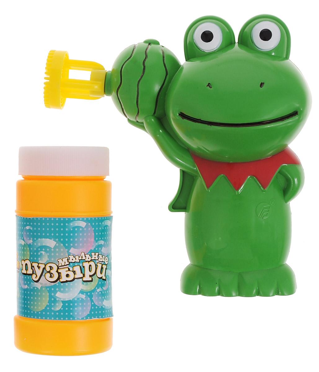 Веселая затея Игрушка с мыльными пузырями Лягушонок, 90 мл1504-0191Выдувание мыльных пузырей - это веселое развлечение для детей и взрослых. А с игрушкой Веселая затея Лягушонок вас ждет просто гигантская очередь мыльных пузырей! Для этого налейте мыльный раствор в крышку от флакончика, опустите в нее носик игрушки, поднимите в воздух и нажмите на курок. Вы увидите невероятное количество пузырей. Устройте малышу настоящее мыльное шоу! В комплекте для выдувания мыльных пузырей: пластиковый пистолет, пузырек с мыльной жидкостью. Для работы игрушки необходимы 2 батарейки типа АА (не входят в комплект).