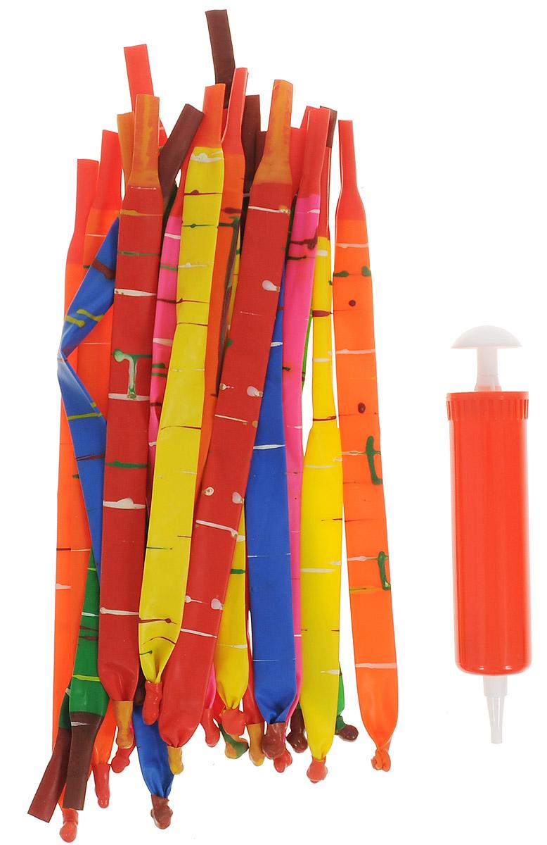 Веселая затея Набор шаров Ракета, с насосом, 24 шт1111-0352Набор шаров Веселая затея Ракета - это набор, состоящий из 24 шаров-ракет, а также насоса для надувания. Просто накачайте шар воздухом с помощью насоса и отпустите его. Наслаждайтесь видом стремительного полета шаров-ракет! Можно устраивать веселые соревнования, чей шар взлетит выше, или пролетит дальше. Шары выполнены из натурального латекса, что гарантирует экологическую безопасность.