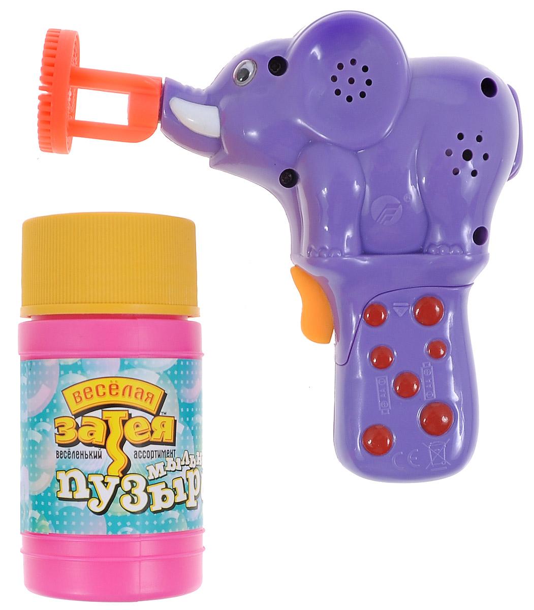 """Веселая затея Игрушка с мыльными пузырями """"Слон"""", со звуковыми эффектами"""