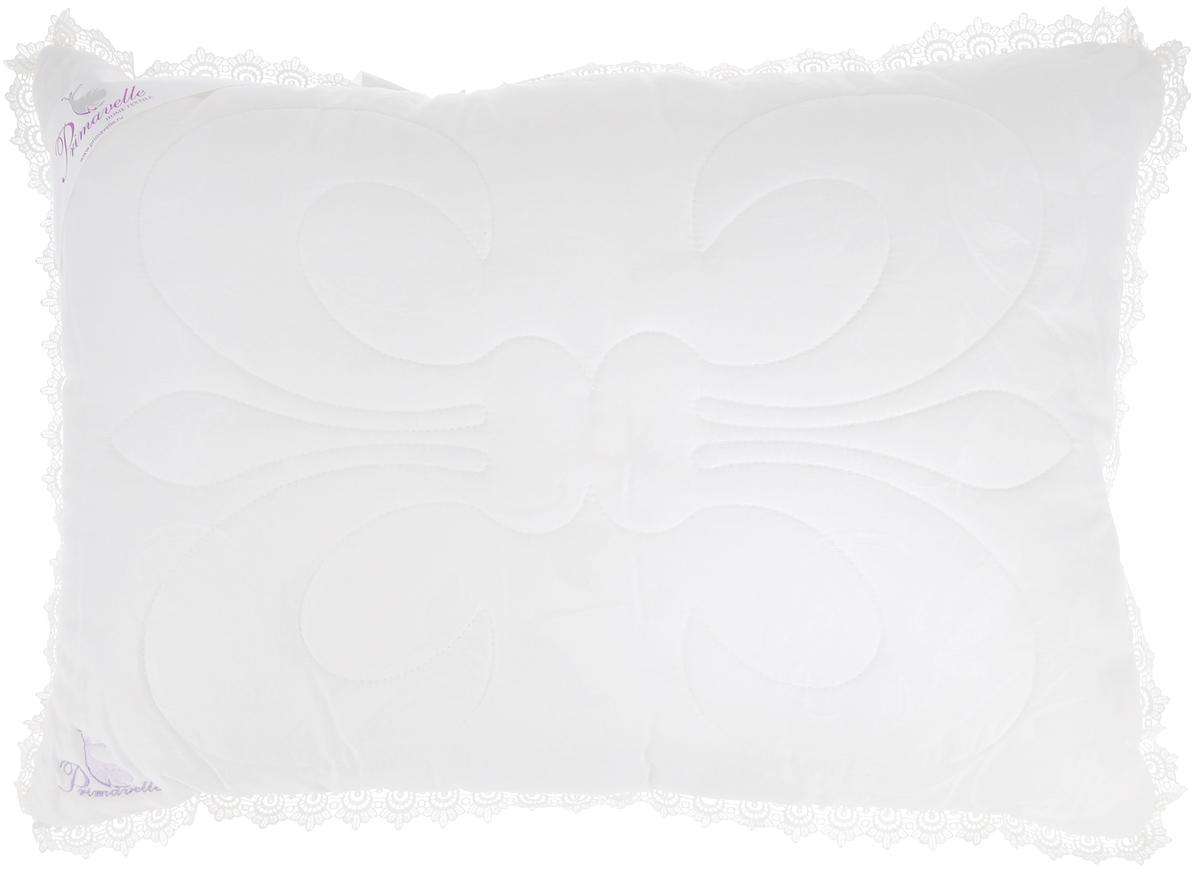 Подушка Primavelle Silk Premium, наполнитель: шелк, цвет: белый, 50 х 72 см115914810-SlЧехол подушки Primavelle Silk Premium выполнен из 100% тенсела. Наполнитель подушки состоит из шелка (80%) и микроволокна (20%). Стежка надежно удерживает наполнитель внутри и не позволяет ему скатываться. Элегантная подушка Primavelle Silk Premium, украшенная ажурным кружевом и декоративной ниточной стежкой, придаст вашей спальне изысканный вид. Чехол подушки выполнен из натурального тенселя, волокна полученного из целлюлозы эвкалипта. Тенсель обладает атибактериальными свойствами, отличается повышенной мягкостью и подходит даже для людей с чувствительной кожей. Жаккардовый рисунок ткани добавляет эстетическую красоту изделию. Шелковый наполнитель оказывает благоприятное воздействие на кожу, стимулирует обмен веществ, благодаря входящим в его состав 18 аминокислотам, необходимым человеку. Он также гипоаллергенен и обладает антибактериальными свойствами. Оригинальная стежка в форме королевский лилии не только украшает одеяло, но и надежно...