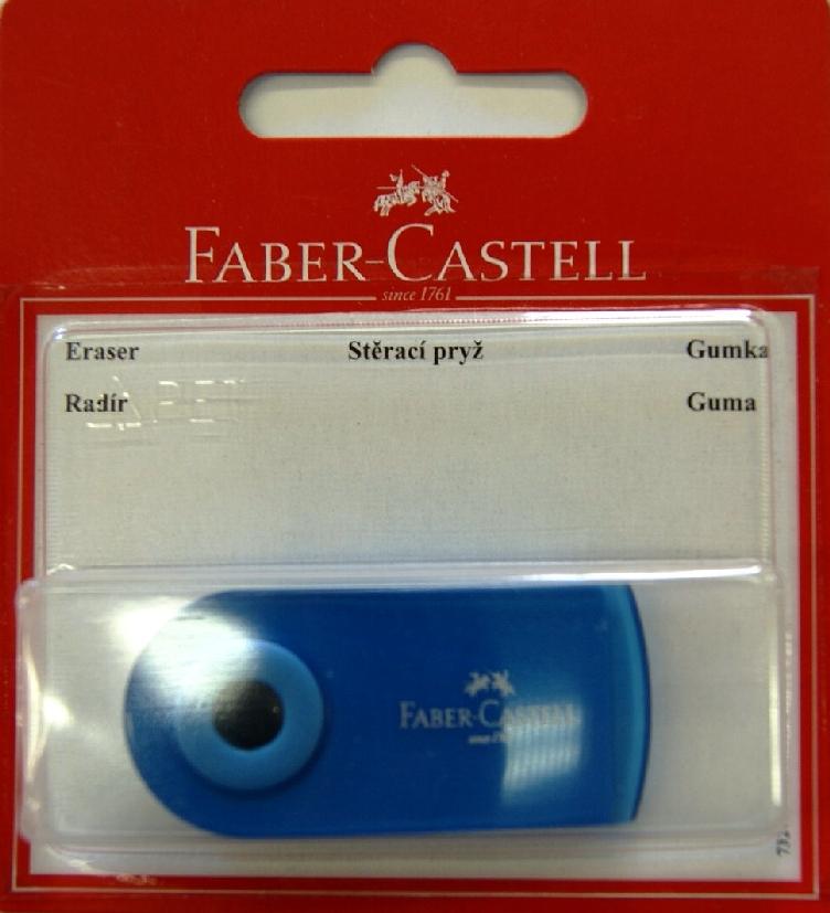 Faber-Castell Ластик Sleeve цвет синий 263396263396Ластик Sleeve Faber-Castell станет незаменимым аксессуаром на рабочем столе не только школьника или студента, но и офисного работника. Не оставляет грязных разводов. Кроме того высококачественный ластик не содержит ПВХ. Не повреждает бумагу даже при многократном стирании. Специальный удобный пластиковый футляр позволит защитить ластик от повреждений.