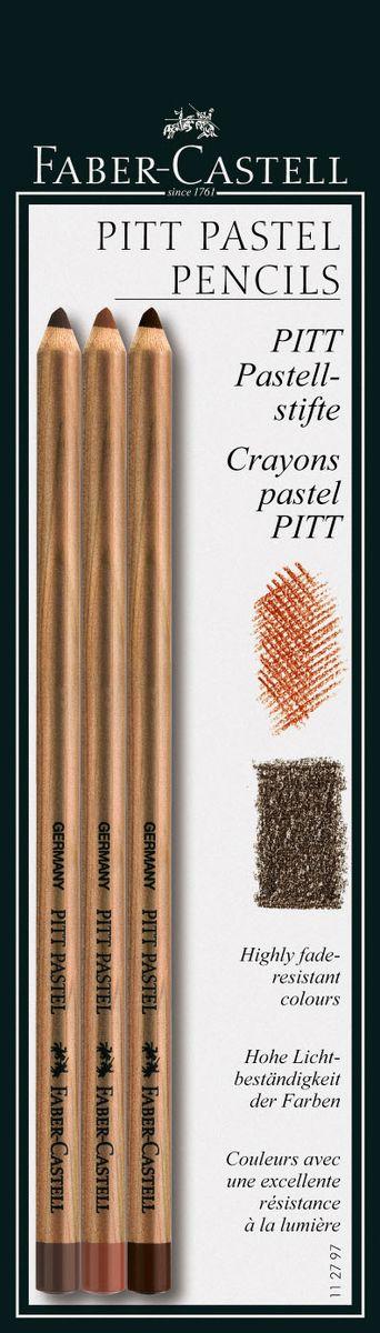 Пастельные карандаши PITT PASTEL и PITT MONOCHROME PASTEL, кроваво-красный/цвет сепии, в блистере, 3 шт.112797