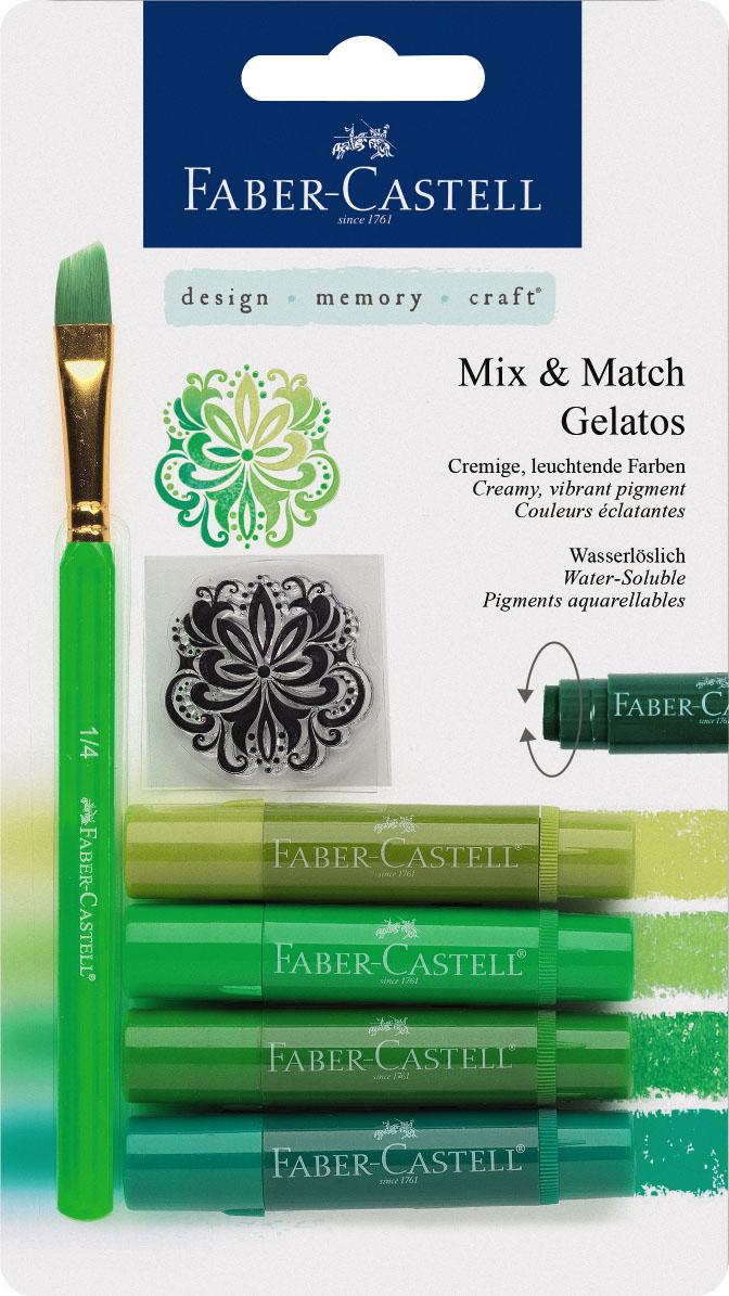 Gelatos зеленый, 4 шт., в блистере с маркой и кисточкой121804Новый уникальный продукт от Faber-Castell! Не имеет аналогов на рынке! не содержит вредных веществ очень гладко наносится на поверхность яркие и насыщенные цвета цвета легко смешиваются легко наносится на бумагу, холст или дерево великолепно сочетается с другими арт- продуктами Faber-Castell идеальная как для начинающих, так и для опытных художников