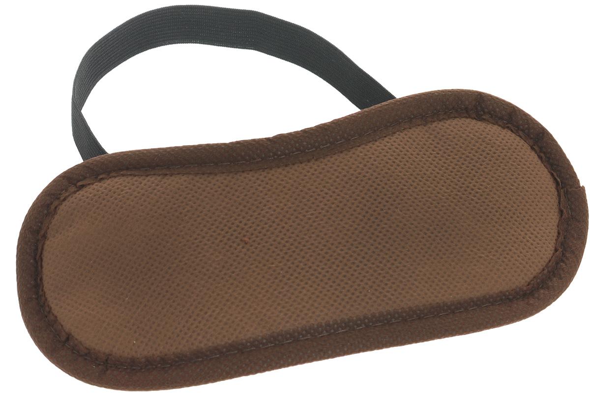 Маска для глаз дорожная, цвет: коричневыйК03Маска защитит ваши глаза от яркого света, обеспечит вам полноценный отдых и снимет напряжение, она полностью гигиенична. Маска держится на голове с помощью резинки.