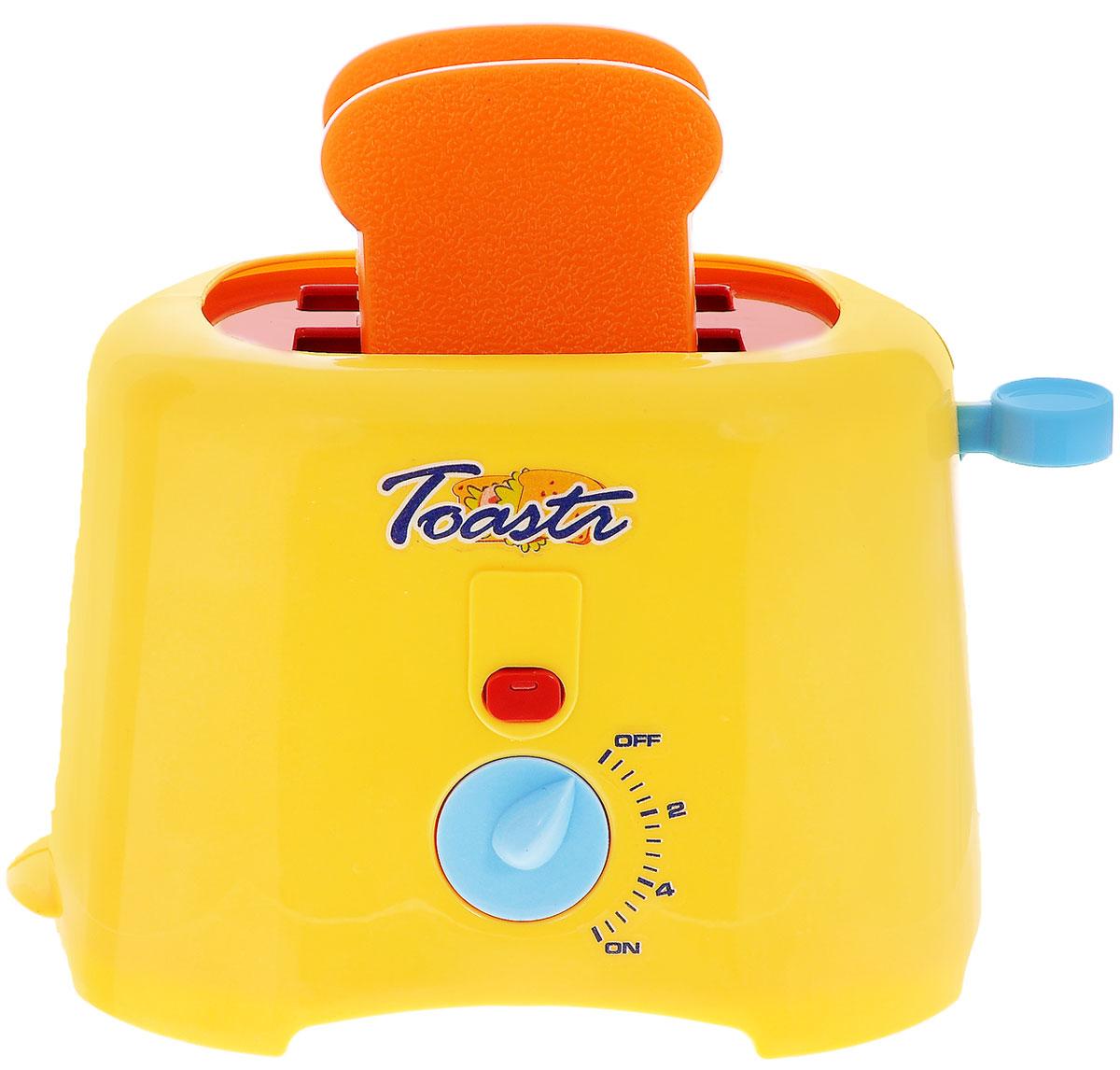 Zhorya Игровой набор ТостерХ75822Игровой набор Zhorya Тостер привлечет внимание вашего маленького кулинара и не позволит ему скучать. Набор включает в себя тостер и 2 кусочка хлеба. Игрушечный тостер очень похож на настоящий кухонный прибор! Поместите тосты внутрь, поверните выключатель - и внутри тостера тут же загорится свет, имитирующий раскаленные спирали настоящего тостера, а также раздастся характерный звук готовящихся тостов. Когда время готовки закончится - тосты выпрыгнут наружу. С таким набором ваш малыш сможет приготовить для своих игрушек вкусный завтрак. Игрушечная бытовая техника не только развлекает ребенка, но и знакомит его с правилами использования электроприборов. Порадуйте его таким замечательным подарком! Для работы игрушки необходимы 2 батарейки напряжением 1,5V типа АА (не входят в комплект).