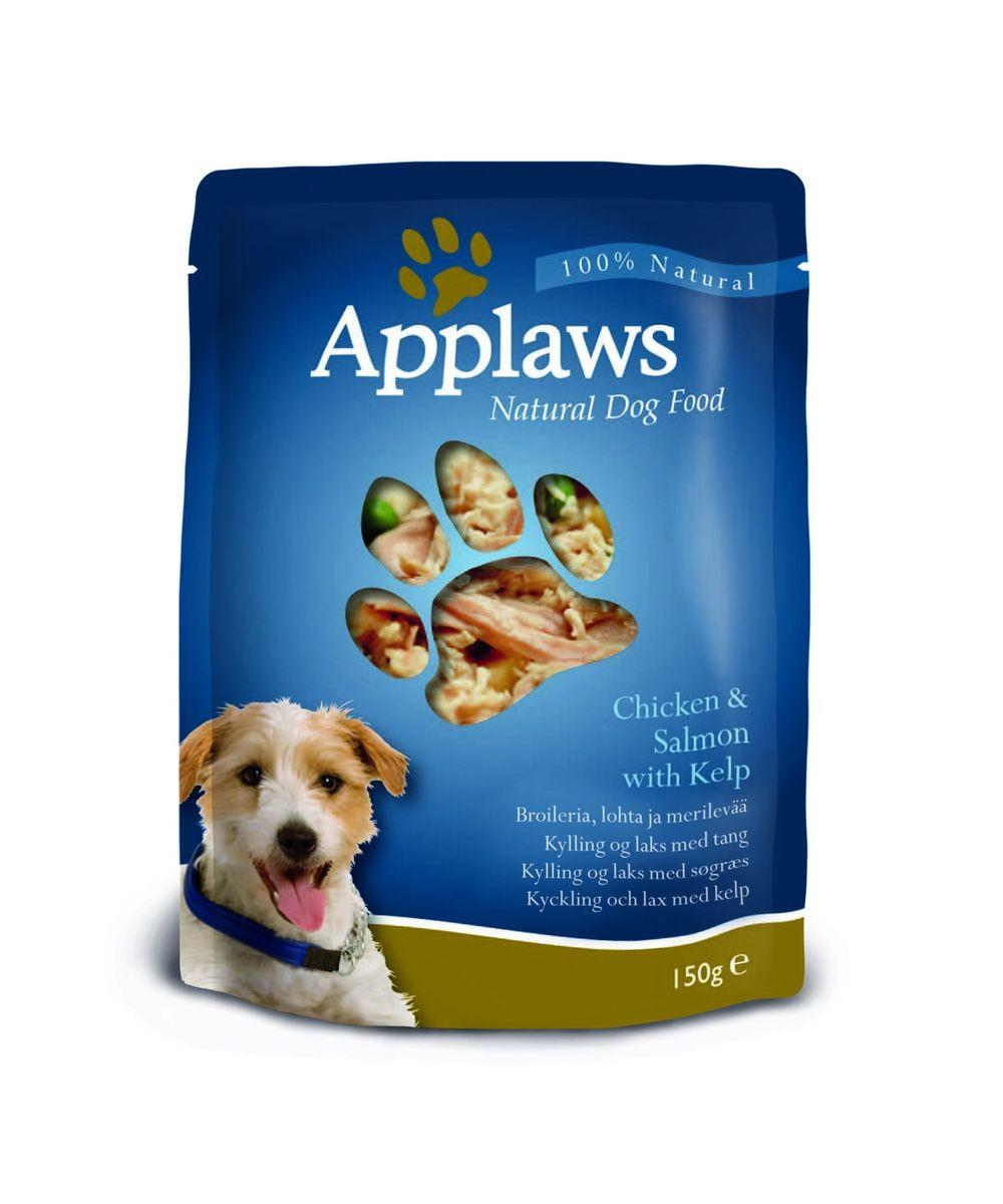 Паучи для Собак с Курицей, Лососем и овощным ассорти (Dog Chicken & Salmon - Veg Pouch), 150 г10288Паучи для собак Applaws – это 150 г настоящего удовольствия. Нежное мясо/рыба в собственном бульоне с лакомыми добавками, как: лосось, молодые овощи и пр. Условия хранения: в прохладном темном месте