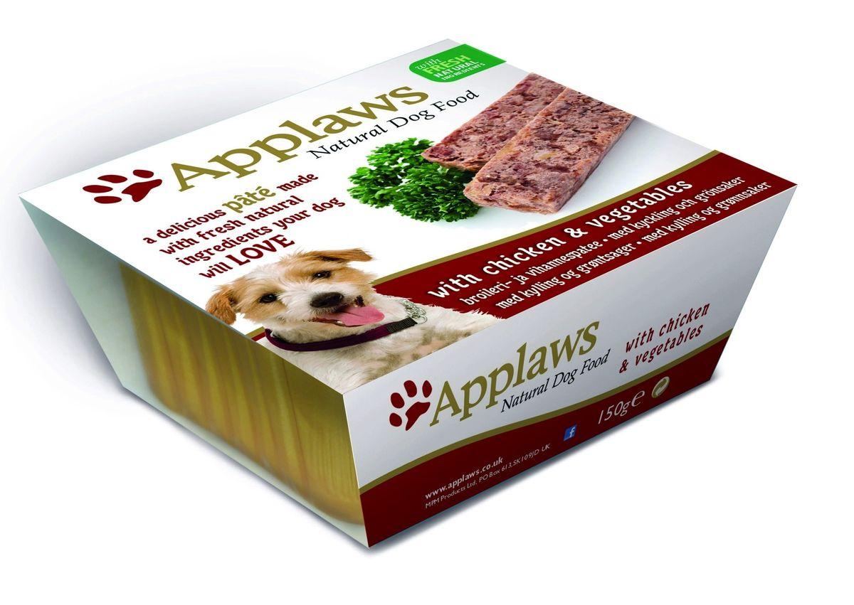 Паштет для Собак с Курицей и овощами (Dog Pate with Chicken & vegetables), 150 г10291Нежный паштет Applaws – это полнорационная порция мясного/рыбного мусса с добавлением всех необходимых для собаки витаминов и минералов. Упаковка в виде алюминиевого контейнера прекрасно сохраняет качество ингредиентов и его непревзойденный вкус. Состав: Курица 31%, Свинина 19%, Молодая морковь 8%, Зеленый горошек 8%, Индейка 4%, Рыба 4%. Пищевые добавки: Витамин Е 30 МЕ/кг, Сульфат меди 1мг/кг, Сульфат цинка 20 мг/кг. Гарантированный анализ: Белки 10%, Жиры 5,5%, Клетчатка 0,2%, Зола 2,3%, Влага 82%.