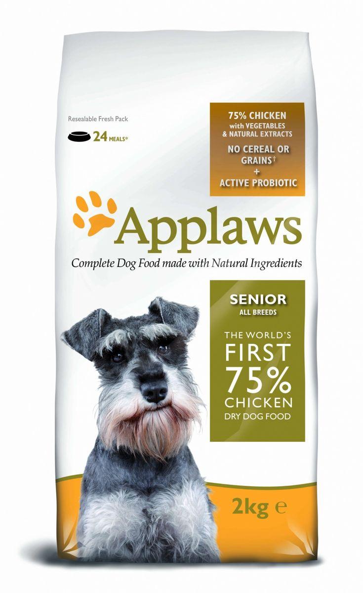 """Applaws Беззерновой для Пожилых собак """"Курица/Овощи: 75/25%"""" (Dry Dog Chicken Senior), 2 кг 10305"""