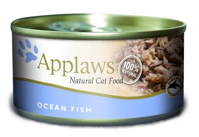 """Консервы для Кошек с Океанической рыбой (Cat Ocean Fish), 70 г24329Один из девизов компании Applaws – """"Все только натуральное и качественное!"""". Поэтому вся продукция выпускается согласно строгому регламенту качества, каждая партия продукции проходит обязательную проверку и анализы. Консервы изготовлены из свежего мяса 75%, приготовленного в собственном бульоне 24%. В состав каждого рецепта входит только три/четыре основных ингредиента и ничего более. Не содержит ГМО, синтетических консервантов или красителей. Не содержит вкусовых добавок. Состав: Филе макрели 45%, филе тунца 24%, рыбный бульон 24%, рис 1%. Гарантированный анализ: Белок 12%, Клетчатка 1%, Жиры 1%, Зола 3%, Влага 83%."""