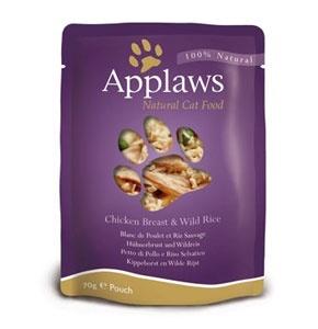 Паучи для Кошек с Курицей (Cat Chicken pouch), 70 г24359Паучи для кошек Applaws – это 70 г настоящего удовольствия для кошек. Нежное филе куриной грудки в собственном бульоне с диким рисом. Ламинированная упаковка из пищевой фольги прекрасно сохраняет все вкусовые качества рецепта. В состав паучей входят только перечисленные компоненты. Продукт не содержит ГМО, синтетических добавок, усилителей вкуса и красителей. Applaws – все только натурально, ничего лишнего! Состав: филе куриной грудки 75%, куриный бульон 24%, дикий рис 1%. Гарантированный анализ: Белок 14%, Жиры 0,3%, Зола 2%, Клетчатка 1%, Влага 82%. Условия хранения: в прохладном темном месте