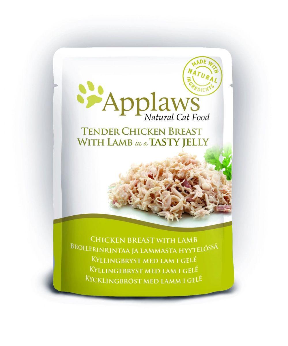 Паучи для Кошек Кусочки Курицы с Ягненком в желе (cat pouch chicken with lamb in jelly), 70 г24369Нежные кусочки в аппетитном желе для кошек изготовленные из свежего мяса или рыбы. Желе приготовлено из бульона при помощи натуральных загустителей. Известно, что желе помогает пищеварению кошек – легко переваривается, дает дополнительную влагу, также помогает при выводе шерсти. Состав: Филе куриной грудки 55%, филе ягненка 7%, растительный желлирующий компонент (пектин) 1%. Гарантированный анализ: Белок 12,5%, Клетчатка 1%, Жиры 1%, Зола 1%, Влага 84%. Условия хранения: в прохладном темном месте