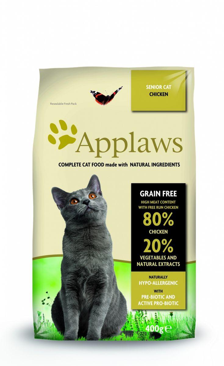 Беззерновой для Пожилых кошек Курица/Овощи: 80/20% (Dry Cat Senior), 400 г24393Беззерновая линейка Холистик кормов для кошек Applawsизготовлена по особым рецептам, разработанными диетологами института Великобритании. Правильная диета очень важна для питомцев, ведь она меняется в зависимости от жизненного цикла. Также полнорационные корма должны включать в себя необходимое количество витаминов и минералов. В рецептах сухих кормов Applaws учтен не только перечень наиболее необходимых минералов и витаминов, но и их строгий баланс. Так как сухой корм изготавливается только из натуральных качественных ингредиентов, крокеты привлекут внимание любого, даже очень привередливого питомца. Состав: Дегидрированное мясо цыпленка (мин. 75%), мелкопорубленное филе цыпленка (мин. 12%), молодой картофель (мин. 6%), свекла, пивные дрожжи, подлива с мяса птицы приготовленной в собственном соку (мин. 1%), Клетчатка, лососевый жир (источник Омега 3), кокосовое масло, витамины и минералы, яичный порошок, хлорид натрия, карбонат кальция, сушеные водоросли, клюква, DL -...