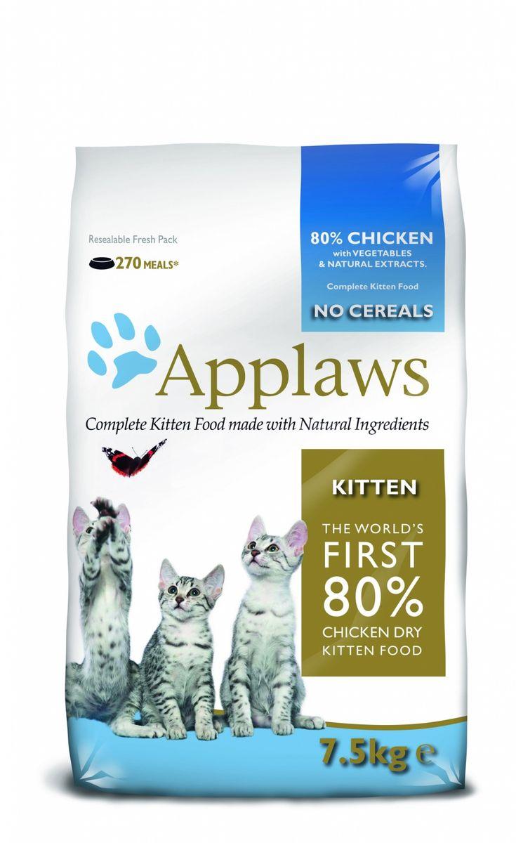 Беззерновой для Котят Курица/Овощи: 80/20% (Dry Cat Kitten), 7,5 кг24399Беззерновая линейка Холистик кормов для кошек Applaws изготовлена по особым рецептам, разработанными диетологами института Великобритании. Правильная диета очень важна для питомцев, ведь она меняется в зависимости от жизненного цикла. Также полнорационные корма должны включать в себя необходимое количество витаминов и минералов. В рецептах сухих кормов Applaws учтен не только перечень наиболее необходимых минералов и витаминов, но и их строгий баланс. Так как сухой корм изготавливается только из натуральных качественных ингредиентов, крокеты привлекут внимание любого, даже очень привередливого питомца. Состав: Дегидрированное мясо цыпленка (мин. 58%), молодой картофель (мин. 10%), мелкорубленное свежее филе цыпленка (мин. 9%), жир домашней птицы (мин. 7% - источник омега 6), подлива с мяса птицы приготовленной в собственном соку (мин. 3%), свекла (мин. 3%), яичный порошок (мин. 3%), лососевый жир (мин. 2,6% - источник Омега 3, EPAи DHA), пивные дрожжи, минералы,...