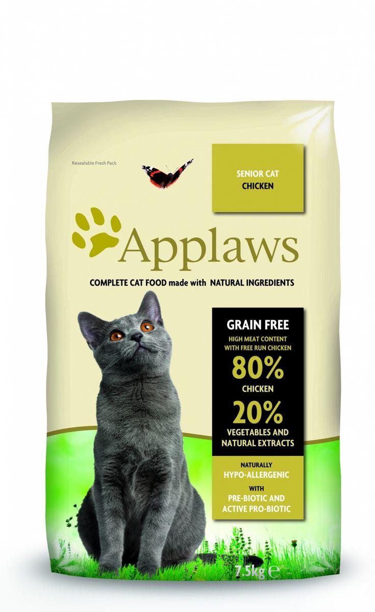 Беззерновой для Пожилых кошек Курица/Овощи: 80/20% (Dry Cat Senior), 7,5 кг24403Беззерновая линейка Холистик кормов для кошек Applawsизготовлена по особым рецептам, разработанными диетологами института Великобритании. Правильная диета очень важна для питомцев, ведь она меняется в зависимости от жизненного цикла. Также полнорационные корма должны включать в себя необходимое количество витаминов и минералов. В рецептах сухих кормов Applaws учтен не только перечень наиболее необходимых минералов и витаминов, но и их строгий баланс. Так как сухой корм изготавливается только из натуральных качественных ингредиентов, крокеты привлекут внимание любого, даже очень привередливого питомца. Состав: Дегидрированное мясо цыпленка (мин. 75%), мелкопорубленное филе цыпленка (мин. 12%), молодой картофель (мин. 6%), свекла, пивные дрожжи, подлива с мяса птицы приготовленной в собственном соку (мин. 1%), Клетчатка, лососевый жир (источник Омега 3), кокосовое масло, витамины и минералы, яичный порошок, хлорид натрия, карбонат кальция, сушеные водоросли, клюква, DL -...