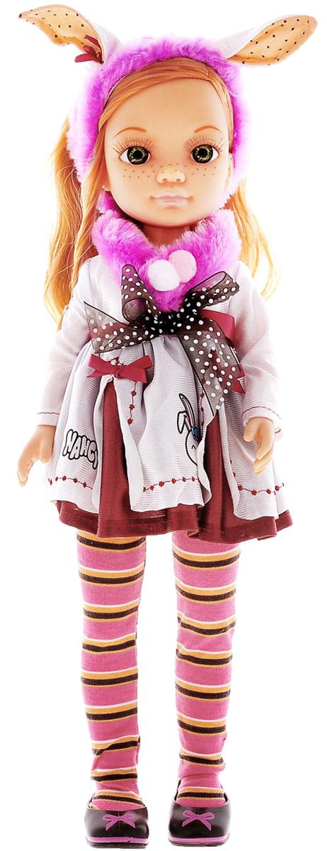 Famosa Кукла Нэнси и веселая радуга700010093Красавица Нэнси с веснушками, ярко-рыжими волосами и пушистыми ресничками обязательно понравится вашей малышке. Кукла одета в симпатичное платье с длинными рукавами, яркие полосатые колготки и милые туфельки с бантиком, а на голове у нее красуется розовая накидка с забавными кроличьими ушками. Набор включает в себя куклу, зайчика и разноцветные ленты, которыми можно украшать и куклу. Для ленточек есть специальный кошелек, который тоже выполнена в виде зайчика. Рекомендуемый возраст: от 3-х лет.