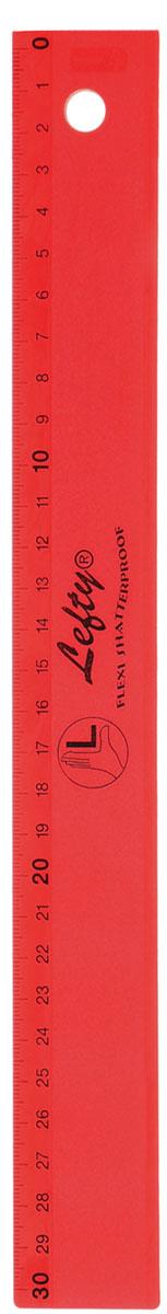 Kum Линейка для левшей, цвет: красный, 30 см