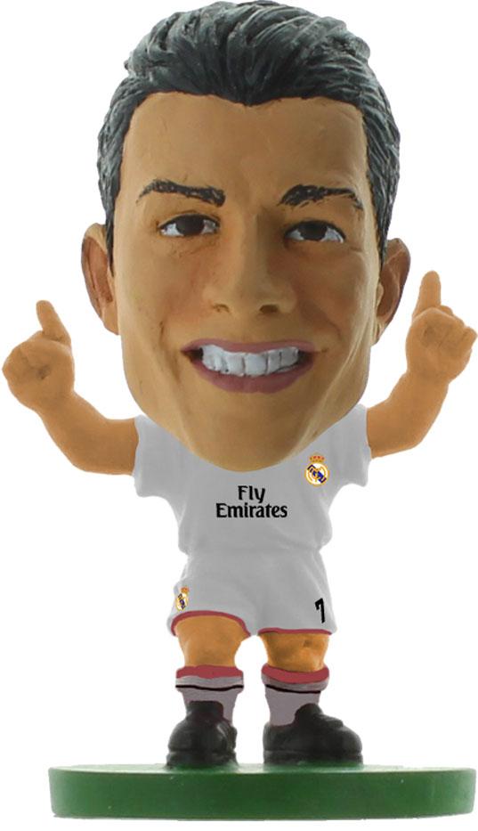 Soccerstarz Фигурка футболиста Real Madrid Cristiano Ronaldo401108Фигурка футболиста клуба Реал Мадрид (Испания) - Криштиану Роналду Фигурка идеальна как игрушка и подарок для коллекционеров - поклонников футбола. Роспись ручной работы точно отражает детали формы клуба данного сезона, номер и фамилию футболиста. •В наборе прилагается карточка с данными об игроке. •Поставляется в прозрачном блистере. •Материал - пластик. •Высота фигурки - 5 см.