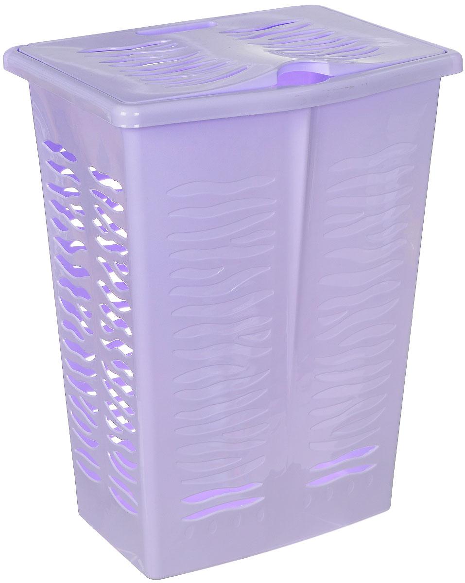 Корзина для белья BranQ Aqua, цвет: сиреневый, 42 лПЦ1707Корзина для белья BranQ Aqua изготовлена из прочного пластика. Корзина пропускает воздух, устойчива к перепадам температур и влажности, поэтому идеально подходит для ванной комнаты. Изделие оснащено боковой ручкой, выемкой под руку и крышкой. Можно использовать для хранения белья, детских игрушек, домашней обуви и прочих бытовых вещей. Элегантный дизайн подойдет к интерьеру любой ванной.