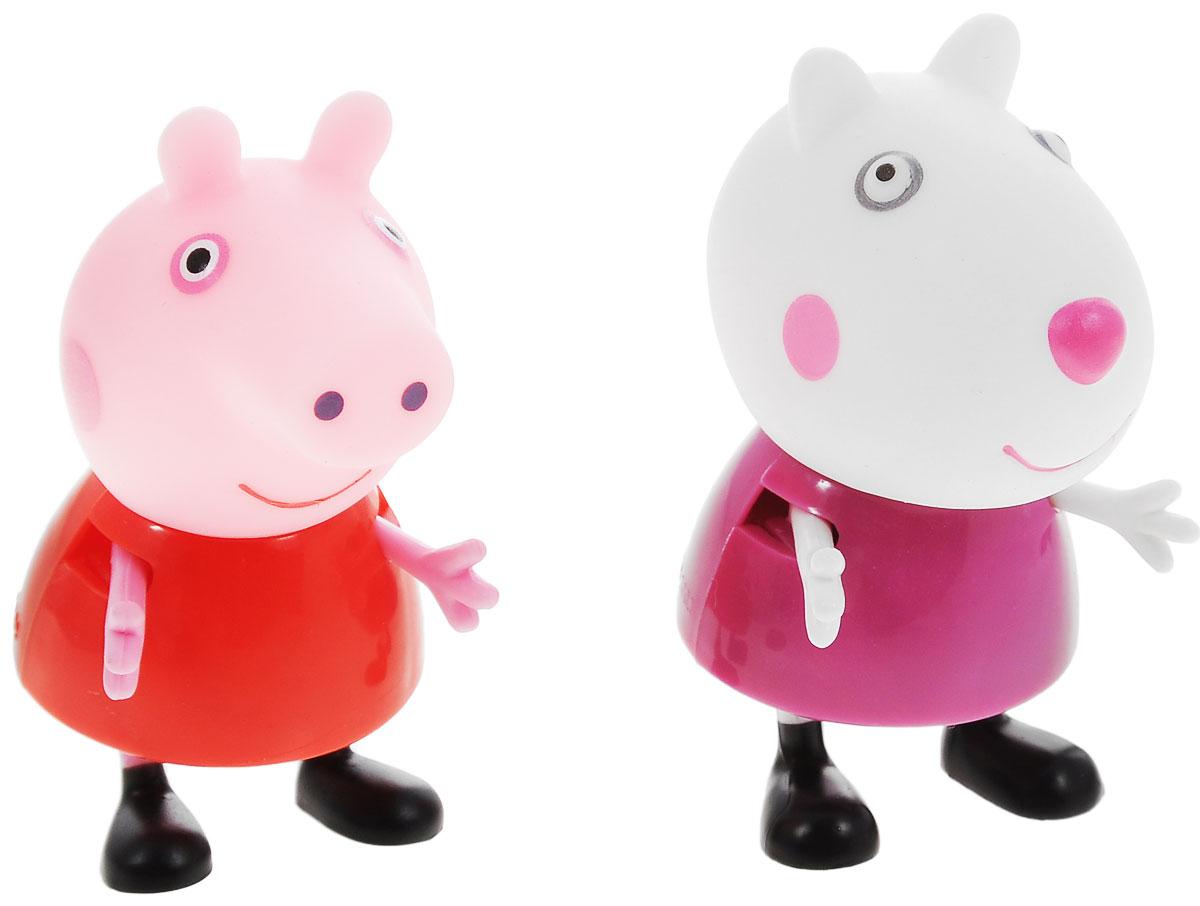 Peppa Pig Игровой набор Пеппа и Сьюзи28816Игровой набор Peppa Pig Пеппа и Сьюзи непременно понравится вашему ребенку и займет его внимание надолго. Набор включает две фигурки: Пеппы и Сьюзи. Ручки и ножки фигурок двигаются. Ваш ребенок будет с удовольствием играть с этим набором, придумывая различные истории и составляя собственные сюжеты. Пеппа - симпатичная маленькая свинка, которая живет вместе со своими Мамой Свинкой, Папой Свином и маленьким братиком Джорджем. Пеппа обожает играть, наряжаться, бывать в новых местах и заводить новые знакомства, но самое любимое занятие Пеппы - прыгать в грязных лужах. Герои мультфильма наделены частично качествами людей, частично качествами животных. Они ходят в одежде, живут в домах, ездят на машинах, ходят на работу и в театр. Дети отмечают дни рождения, играют в парках, катаются на катках и занимаются всем, что присуще людям. В то же время свинки постоянно хрюкают, овечки блеют, а кошки мяукают. Игровой набор Peppa Pig Пеппа и Сьюзи станет отличным подарком поклонникам...