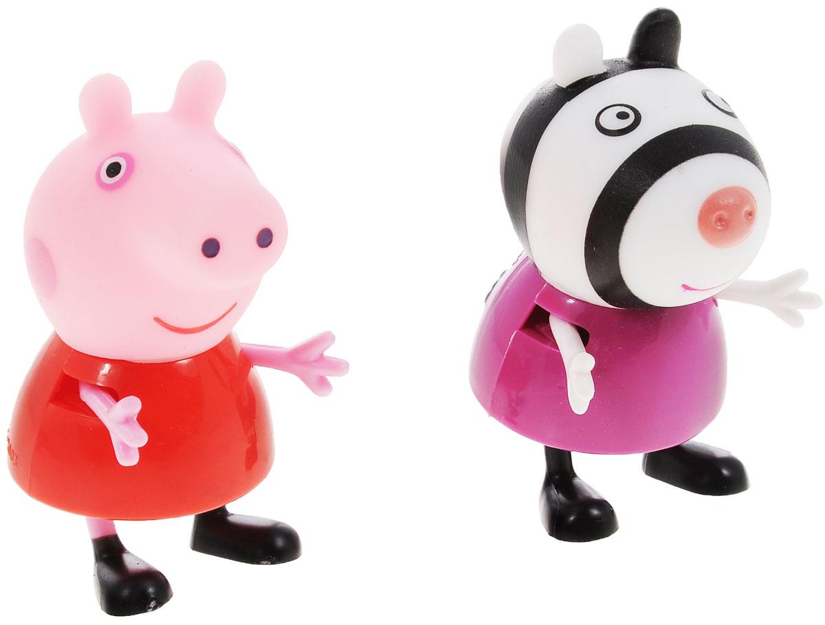 Peppa Pig Игровой набор Пеппа и Зои28814Игровой набор Peppa Pig Пеппа и Зои непременно понравится вашему ребенку и займет его внимание надолго. Набор включает две фигурки: Пеппы и Зои. Ручки и ножки фигурок двигаются. Ваш ребенок будет с удовольствием играть с этим набором, придумывая различные истории и составляя собственные сюжеты. Пеппа - симпатичная маленькая свинка, которая живет вместе со своими Мамой Свинкой, Папой Свином и маленьким братиком Джорджем. Пеппа обожает играть, наряжаться, бывать в новых местах и заводить новые знакомства, но самое любимое занятие Пеппы - прыгать в грязных лужах. Герои мультфильма наделены частично качествами людей, частично качествами животных. Они ходят в одежде, живут в домах, ездят на машинах, ходят на работу и в театр. Дети отмечают дни рождения, играют в парках, катаются на катках и занимаются всем, что присуще людям. В то же время свинки постоянно хрюкают, овечки блеют, а кошки мяукают. Игровой набор Peppa Pig Пеппа и Зои станет отличным подарком поклонникам...