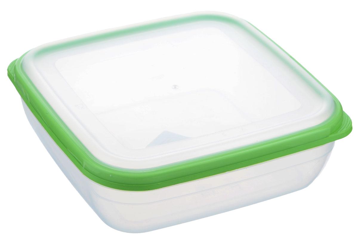 Контейнер для СВЧ Полимербыт Премиум, цвет: салатовый, прозрачный, 1,7 лС566_салатовыйКвадратный контейнер для СВЧ Полимербыт Премиум изготовлен из высококачественного прочного пластика, устойчивого к высоким температурам (до +110°С). Крышка плотно и герметично закрывается, дольше сохраняя продукты свежими и вкусными. Контейнер идеально подходит для хранения пищи, его удобно брать с собой на работу, учебу, пикник или просто использовать для хранения продуктов в холодильнике. Подходит для разогрева пищи в микроволновой печи и для заморозки в морозильной камере (при минимальной температуре -40°С). Можно мыть в посудомоечной машине.