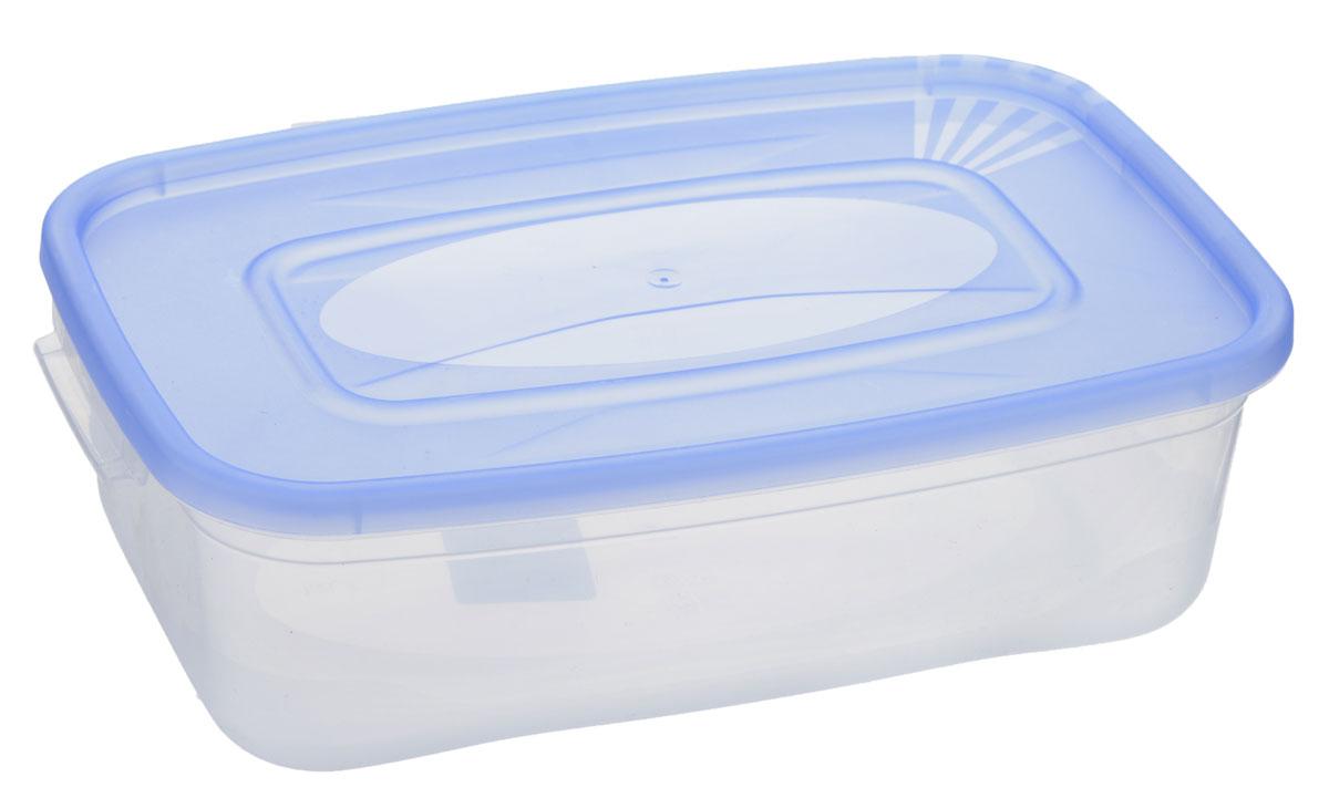 Контейнер Полимербыт Каскад, цвет: прозрачный, голубой, 1,2 лС580_прозрачный, голубойКонтейнер Полимербыт Каскад прямоугольной формы, изготовленный из прочного пластика, предназначен специально для хранения пищевых продуктов. Крышка легко открывается и плотно закрывается. Контейнер устойчив к воздействию масел и жиров, легко моется. Прозрачные стенки позволяют видеть содержимое. Контейнер имеет возможность хранения продуктов глубокой заморозки, обладает высокой прочностью. Подходит для использования в микроволновых печах. Можно мыть в посудомоечной машине.