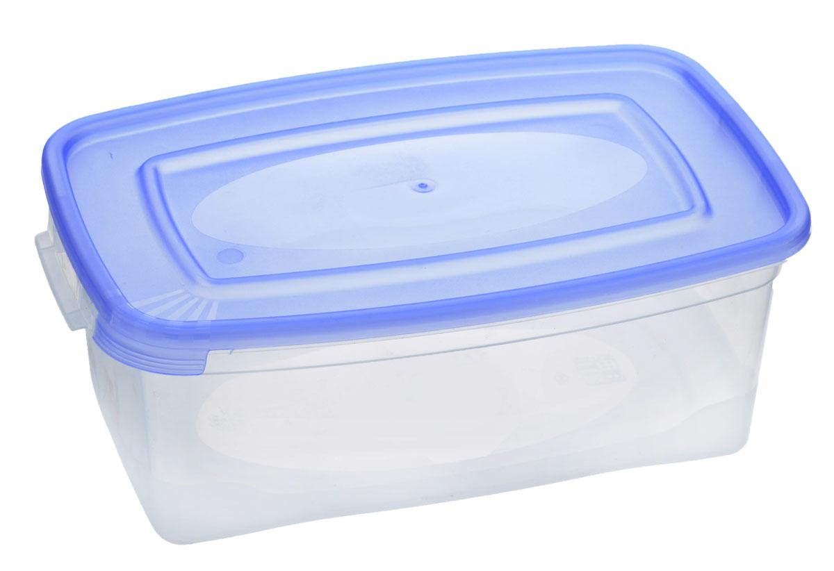 Контейнер Полимербыт Каскад, цвет: прозрачный, голубой, 1 л. С570С570_голубойКонтейнер Полимербыт Каскад прямоугольной формы, изготовленный из прочного пластика, предназначен специально для хранения пищевых продуктов. Крышка легко открывается и плотно закрывается. Контейнер устойчив к воздействию масел и жиров, легко моется. Прозрачные стенки позволяют видеть содержимое. Контейнер имеет возможность хранения продуктов глубокой заморозки, обладает высокой прочностью. Подходит для использования в микроволновых печах. Можно мыть в посудомоечной машине.