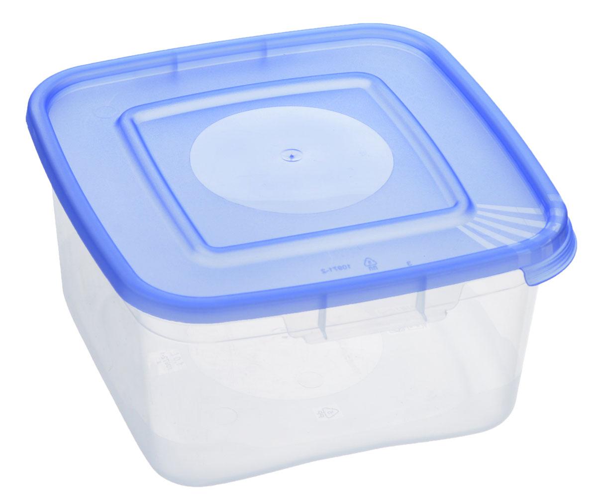 Контейнер Полимербыт Каскад, цвет: прозрачный, голубой, 1 лС670_голубойКонтейнер Полимербыт Каскад квадратной формы, изготовленный из прочного пластика, предназначен специально для хранения пищевых продуктов. Крышка легко открывается и плотно закрывается. Контейнер устойчив к воздействию масел и жиров, легко моется. Прозрачные стенки позволяют видеть содержимое. Контейнер имеет возможность хранения продуктов глубокой заморозки, обладает высокой прочностью. Можно мыть в посудомоечной машине. Подходит для использования в микроволновых печах.