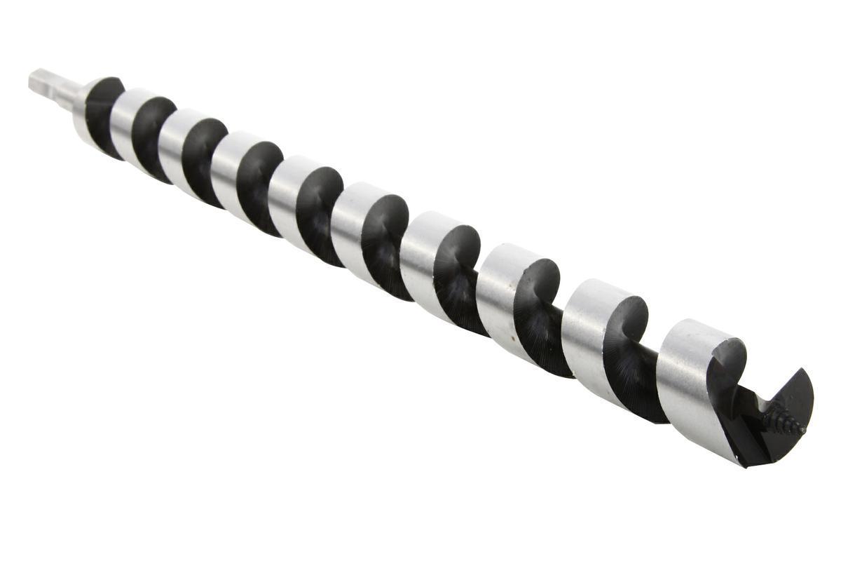 Сверло спиральное по дереву Hammer, диаметр 28 мм32414Спиральное сверло Hammer предназначено для твердой и мягкой древесины. Используется для засверливания больших балок, брусьев и бревен. Спиральное центрирующее острие для быстрого захода в материал. Спиральная форма шнека позволяет быстро и эффективно выводить стружку даже при сверлении влажной древесины. Шестигранный хвостовик обеспечивает надежный зажим в патроне без проскальзывания сверла. Длина рабочей части: 40 см.