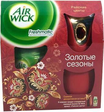 Автоматический освежитель воздуха AirWick Райские цветы, 250 мл3007378/КAIRWICK Авт освежитель воздуха Райские цветы 250мл