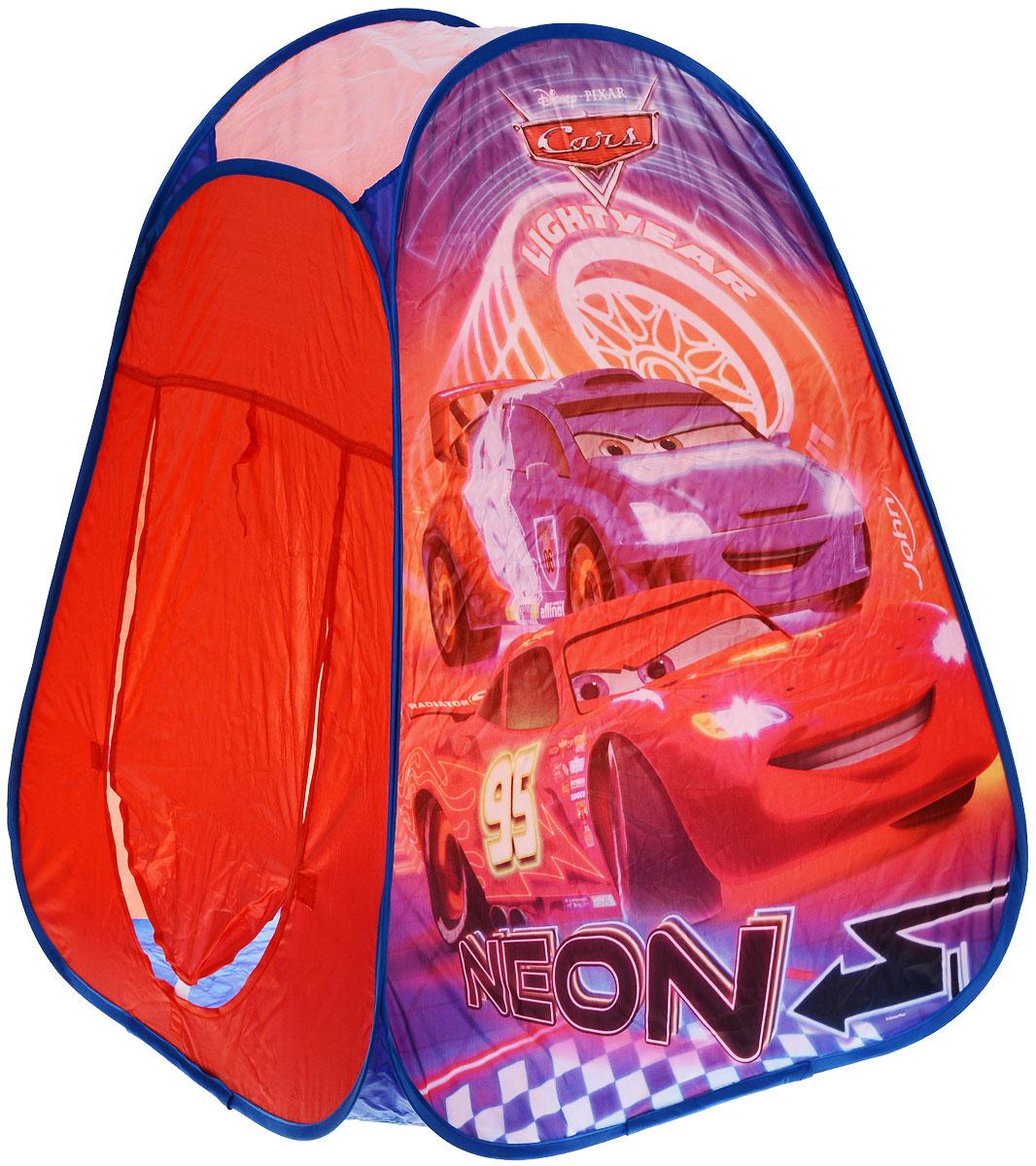 John Детская игровая палатка Тачки: Неон, 75 см х 75 см х 90 см72554WDДетская игровая палатка John Тачки: Неон идеально подойдет для веселых игр как на улице, так и в помещении. Она выполнена в виде обычной палатки с одним входом. Каждый ребенок время от времени мечтает жить в своем собственном маленьком городке, представляя окружающий мир без взрослых. Вашему ребенку с друзьями будет очень весело прятаться от взрослых в этой палатке. Палатка выполнена из легкого полиэстера и оформлена изображением машин из мультфильма Тачки. Палатка при складывании занимает совсем немного места. Ее удобно хранить в сумке-чехле, которая также входит в комплект. Сумка закрывается на застежку-молнию и оснащена двумя ручками для переноски. Ваш ребенок с удовольствием будет играть в такой палатке, придумывая различные истории.