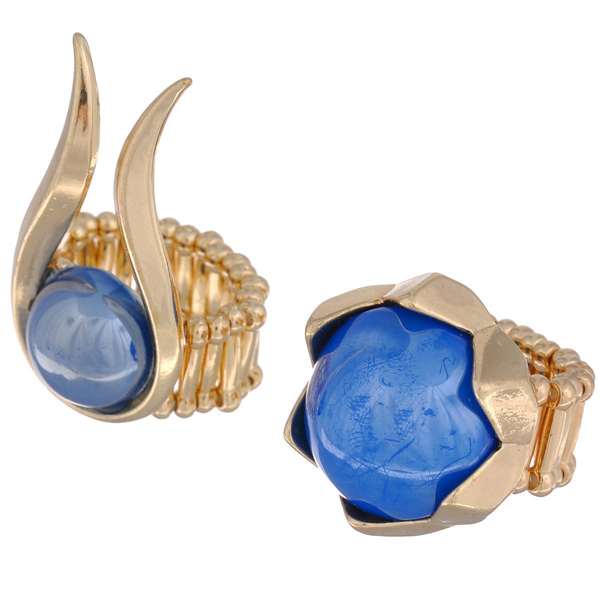Кольцо Avgad, цвет: золотистый, синий. EA178JW126EA178JW126Оригинальное кольцо Avgad выполнено из ювелирного сплава и декорировано дополнительным элементом из акрила. Элементы соединены с помощью тонкой резинки, благодаря этому оно легко одевается и снимается. Размер универсальный. Кольцо позволит вам с легкостью воплотить самую смелую фантазию и создать собственный, неповторимый образ.