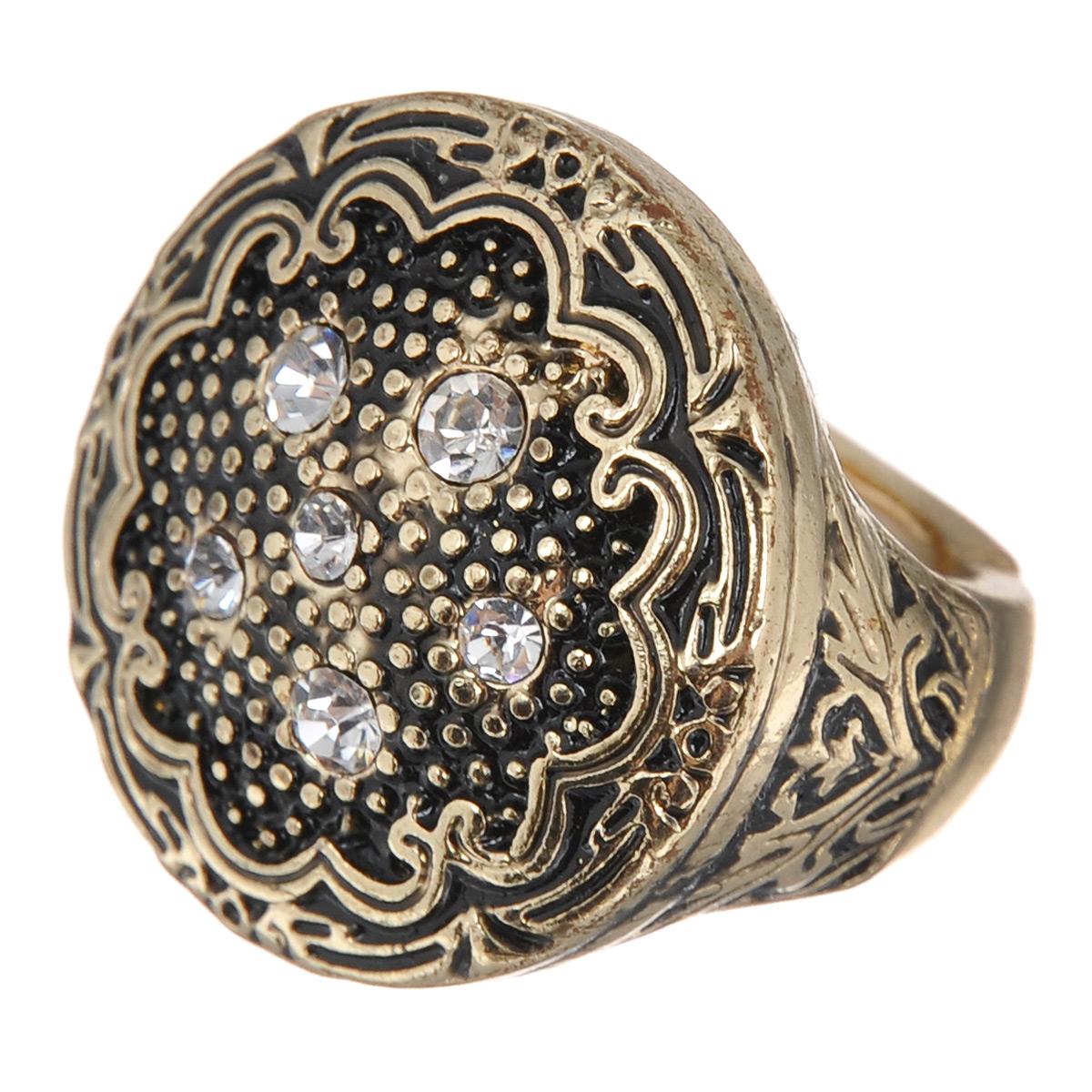 Кольцо Avgad, цвет: золотистый. EA178JW160EA178JW160Оригинальное кольцо Avgad выполненное из ювелирного сплава, декорировано стразами и рельефным узором. Элементы кольца соединены с помощью тонкой резинки, благодаря этому оно легко одевается и снимается. Размер универсальный. Кольцо позволит вам с легкостью воплотить самую смелую фантазию и создать собственный, неповторимый образ.