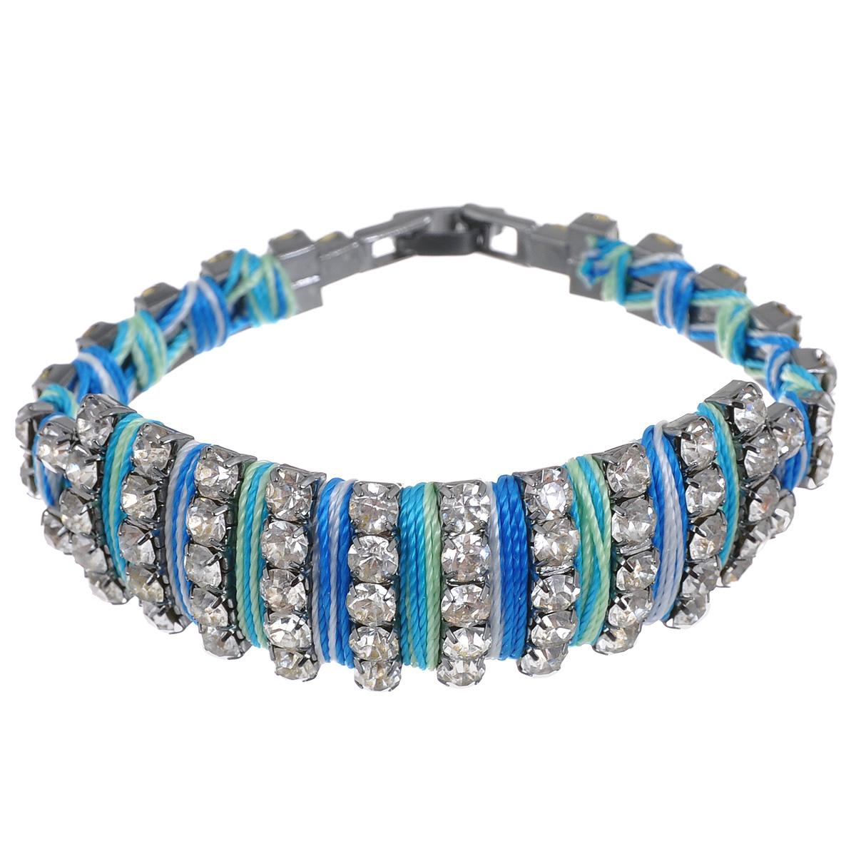 """Браслет """"Avgad"""", цвет: серебристый, голубой. BR77KL78"""