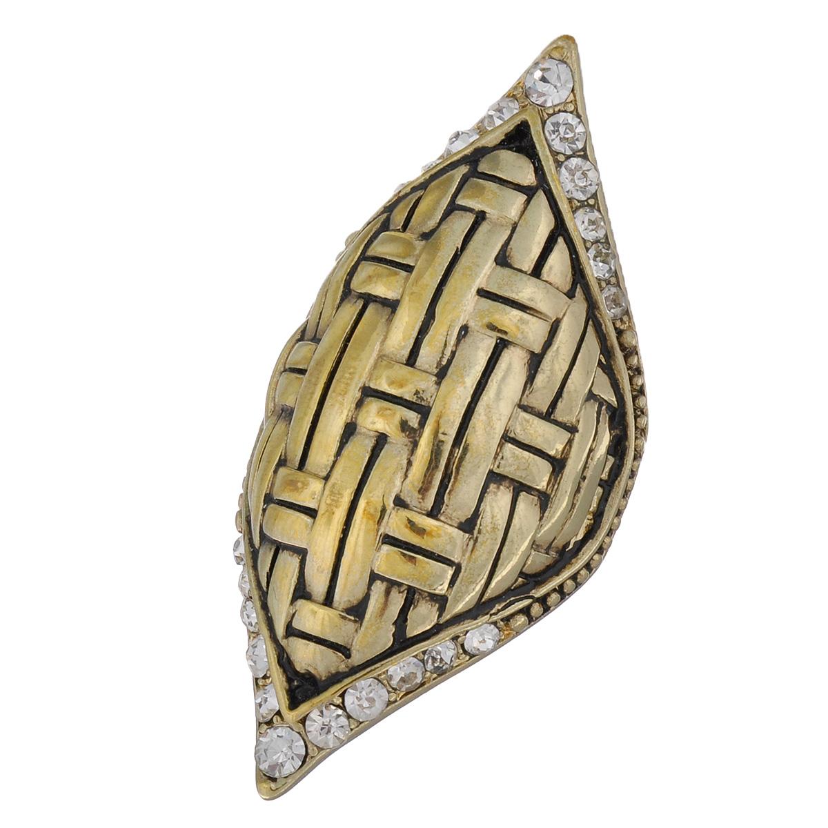 Кольцо Avgad, цвет: золотистый. EA178JW165EA178JW165Оригинальное кольцо Avgad выполненное из ювелирного сплава оформлено рельефом и стразами. Элементы кольца соединены с помощью тонкой резинки, благодаря этому оно легко одевается и снимается. Размер универсальный. Кольцо позволит вам с легкостью воплотить самую смелую фантазию и создать собственный, неповторимый образ.