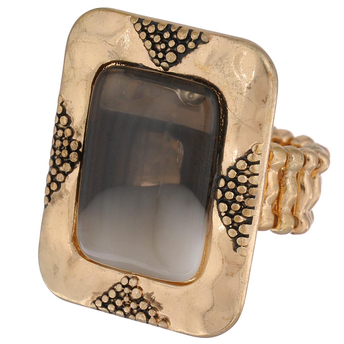 Кольцо Avgad, цвет: золотистый. EA178JW168EA178JW168Оригинальное кольцо Avgad выполнено из ювелирного сплава. Изделие оформлено рельефным узором и вставкой из акрила. Элементы кольца соединены с помощью тонкой резинки, благодаря этому оно легко одевается и снимается. Размер универсальный. Кольцо позволит вам с легкостью воплотить самую смелую фантазию и создать собственный, неповторимый образ.