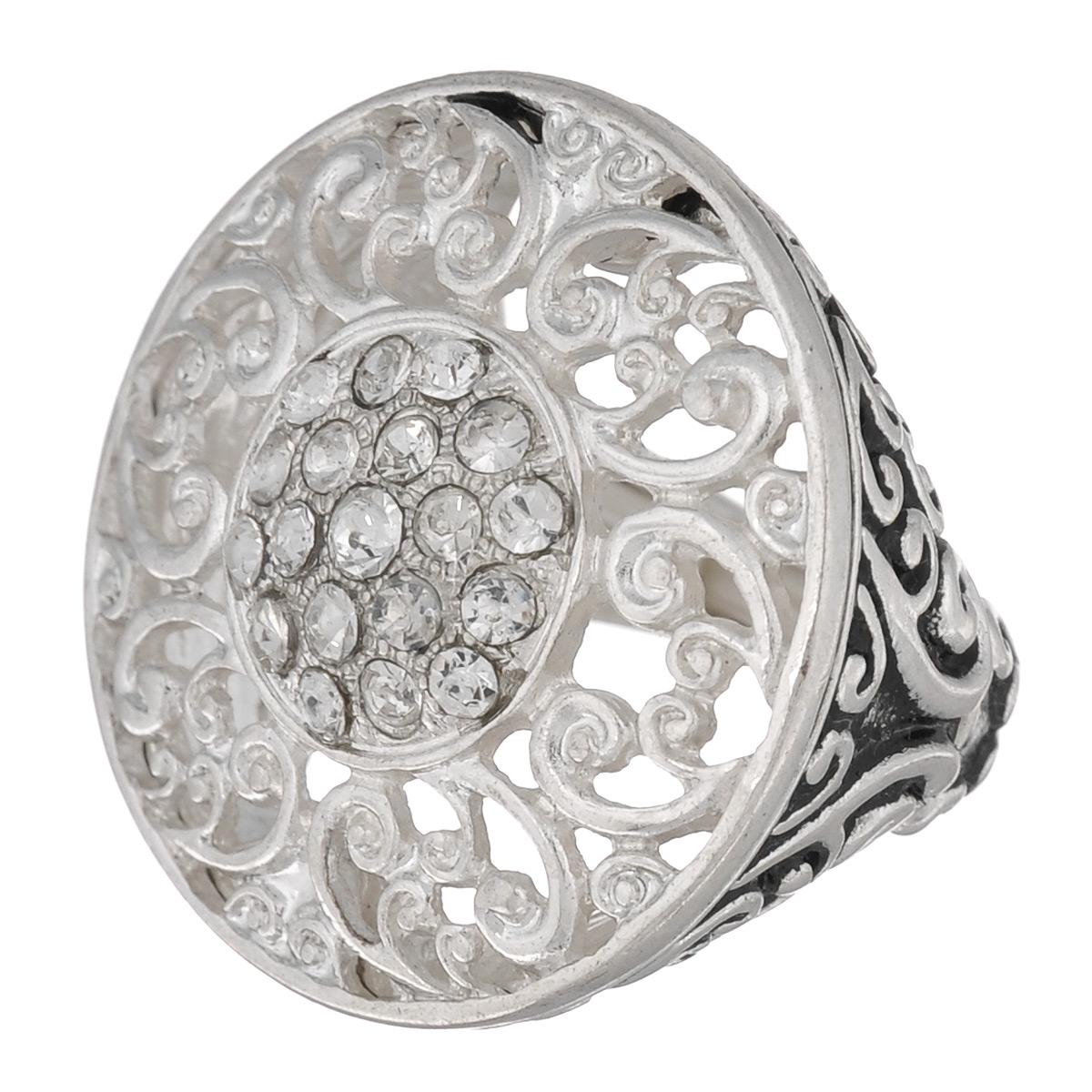 Кольцо Avgad, цвет: серебристый. EA178JW161EA178JW161Оригинальное кольцо Avgad выполненное из ювелирного сплава оформлено рельефом и стразами. Элементы кольца соединены с помощью тонкой резинки, благодаря этому оно легко одевается и снимается. Размер универсальный. Кольцо позволит вам с легкостью воплотить самую смелую фантазию и создать собственный, неповторимый образ.