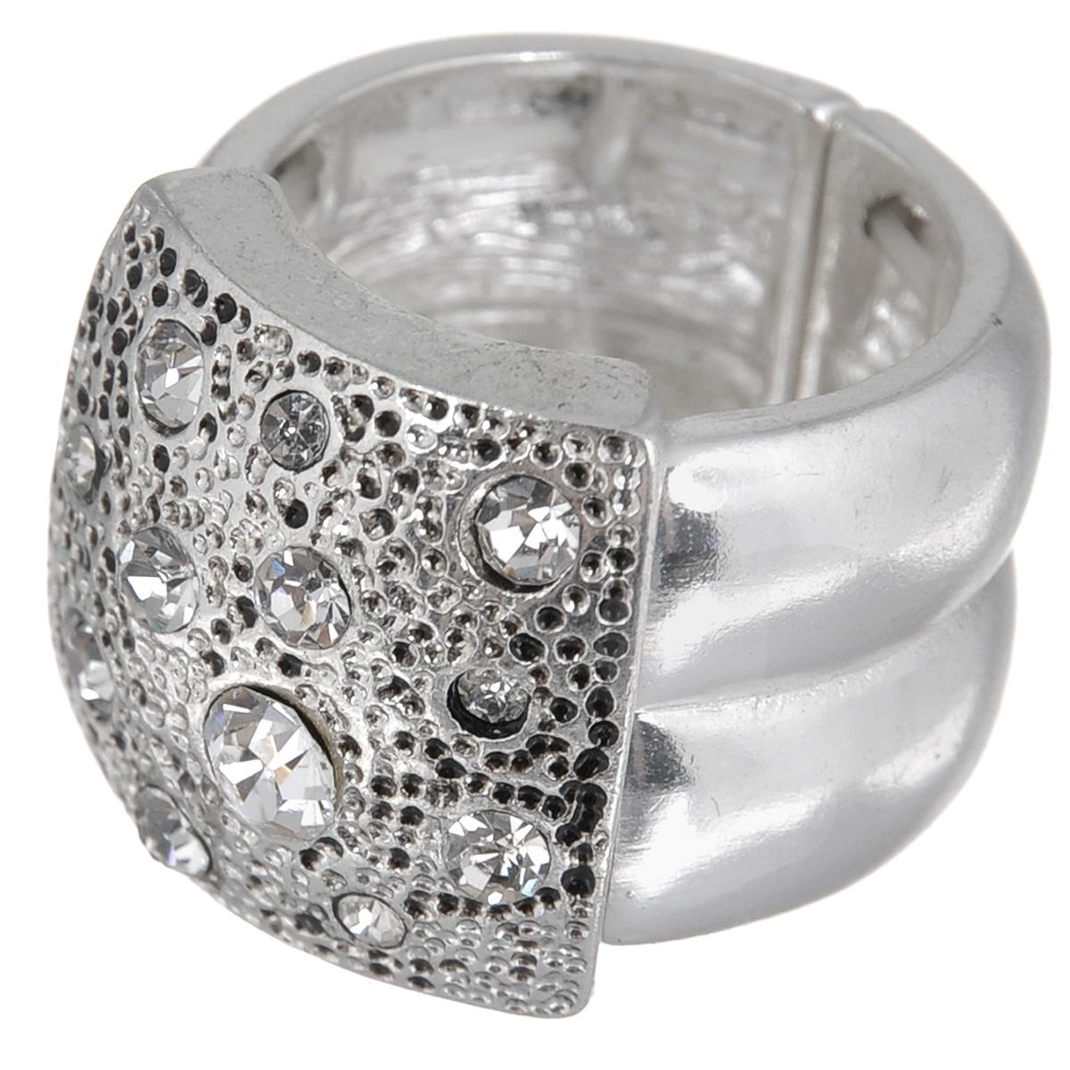 Кольцо Avgad, цвет: серебристый. EA178JW180EA178JW180Оригинальное кольцо Avgad выполнено из ювелирного сплава и декорировано стразами. Элементы кольца соединены с помощью тонкой резинки, благодаря этому оно легко одевается и снимается. Размер универсальный. Кольцо позволит вам с легкостью воплотить самую смелую фантазию и создать собственный, неповторимый образ.