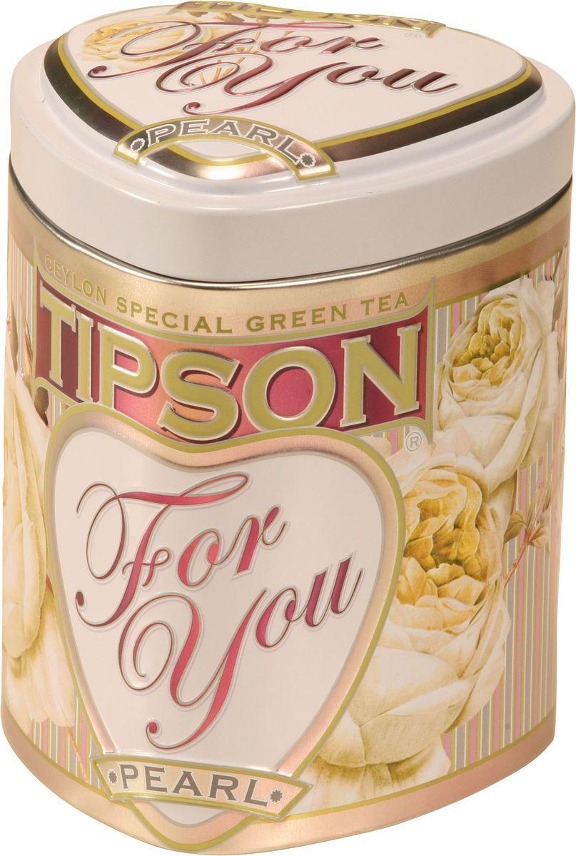 Tipson Pearl зеленый листовой чай, 75 г (жестяная банка)80042-00Чай зелёный цейлонский байховый листовой Tipson Pearl с ароматами молока и розы.