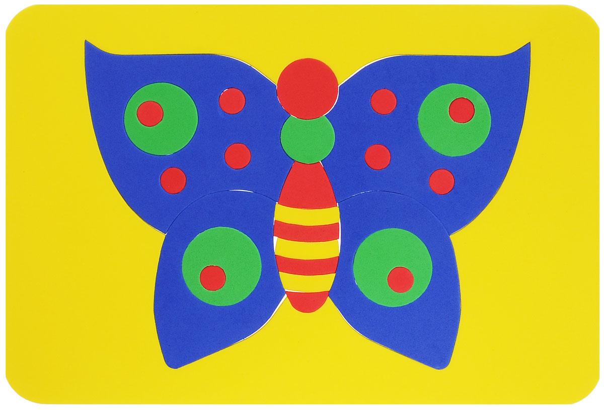 Август Мозаика мягкая Бабочка цвет основы желтый27-2001_желтый фонМягкая мозаика Бабочка выполнена из мягкого полимера, который дает юному конструктору новые удивительные возможности в игре: детали мозаики гнутся, но не ломаются, их всегда можно состыковать. Мозаика представляет собой рамку, в которой из двадцати семи элементов собирается яркая бабочка. Ваш ребенок сможет собрать ее и в ванной. Элементы мозаики можно намочить, благодаря чему они будут хорошо прилипать к стене в ванной комнате. Такая мозаика развивает пространственное и логическое мышление, память и глазомер, знакомит с формами и цветом предмета в процессе игры.