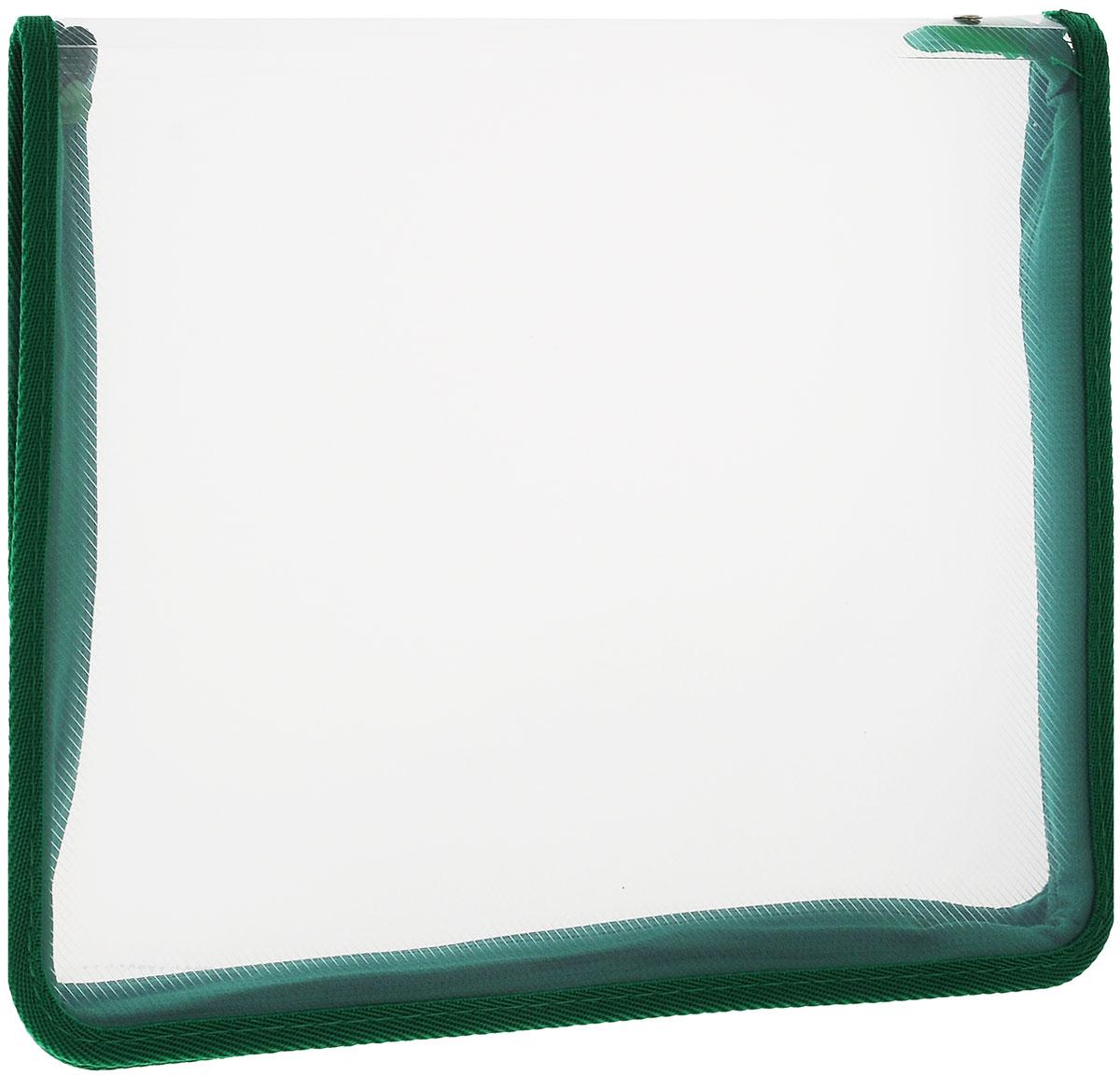 Erich Krause Папка на молнии, цвет: зеленый, прозрачный, формат А450120_зеленый, прозрачныйПапка на молнии Erich Krause формата А4 - это оптимальный способ уберечь от деформации тетради, документы, рисунки и прочие бумаги. С ней можно забыть о таких проблемах, как погнутые уголки и края. Кроме того, теперь все необходимые бумаги и тетради будут аккуратно собраны, а не распределены по разным местам, что сократит время их поиска. Стенки папки прозрачны, что позволяет видеть содержимое в ней и быстрее отыскать нужный предмет. Аксессуар закрывается на молнию, поэтому вы можете быть уверены, что положенные в нее бумаги не выпадут.